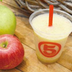 赤と緑のりんごジュース