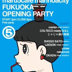 10/6 (金) マルゴカフェ マリノアシティ福岡店 OPENING PARTY